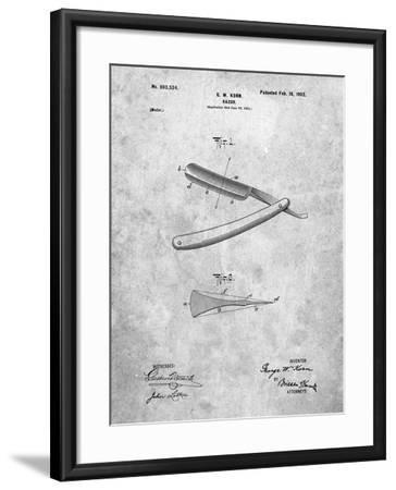 PP1178-Slate Straight Razor Patent Poster-Cole Borders-Framed Giclee Print