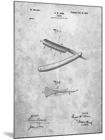 PP1178-Slate Straight Razor Patent Poster-Cole Borders-Mounted Giclee Print