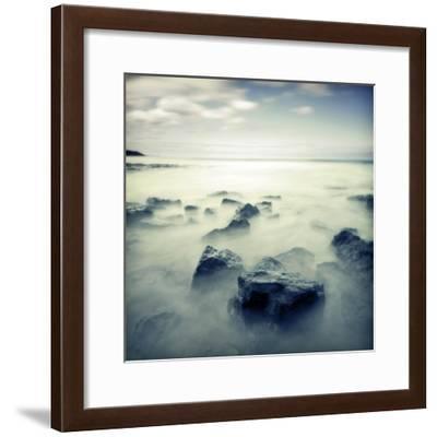 Blue Seascape 02-Tom Quartermaine-Framed Giclee Print