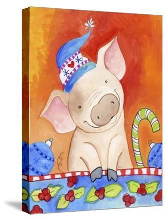 Christmas Piggie-Valarie Wade-Stretched Canvas Print