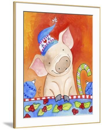 Christmas Piggie-Valarie Wade-Framed Giclee Print