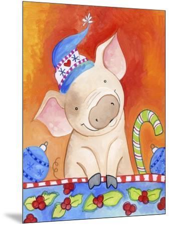 Christmas Piggie-Valarie Wade-Mounted Giclee Print
