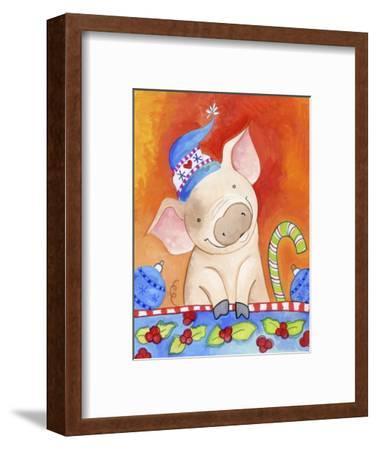 Christmas Piggie-Valarie Wade-Framed Premium Giclee Print