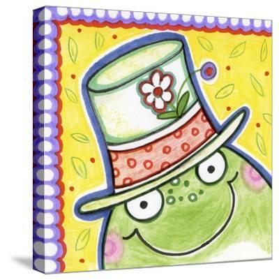 Frog Face-Valarie Wade-Stretched Canvas Print