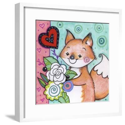 Flowers For Fox-Valarie Wade-Framed Giclee Print