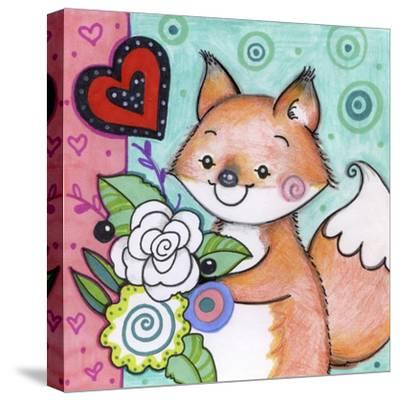 Flowers For Fox-Valarie Wade-Stretched Canvas Print