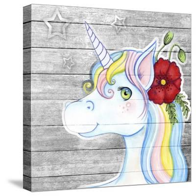 Unicorn Silver-Valarie Wade-Stretched Canvas Print