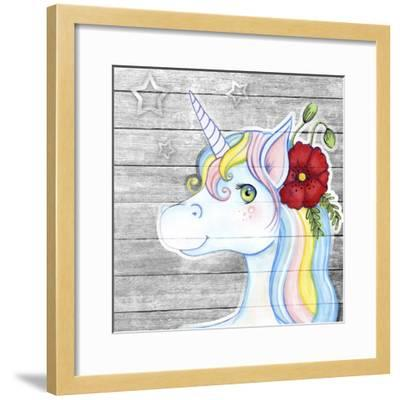 Unicorn Silver-Valarie Wade-Framed Giclee Print