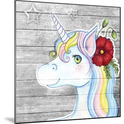 Unicorn Silver-Valarie Wade-Mounted Giclee Print