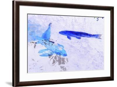 Two Blue Fish-Tom Kelly-Framed Giclee Print