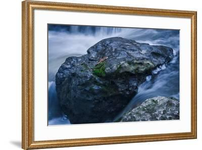 Massive Moss Covered Rock Under Waterfalls-Anthony Paladino-Framed Giclee Print