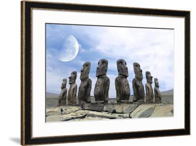 Moai-Ata Alishahi-Framed Giclee Print