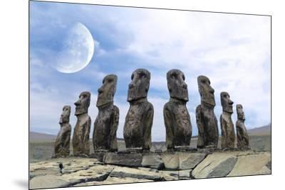 Moai-Ata Alishahi-Mounted Giclee Print