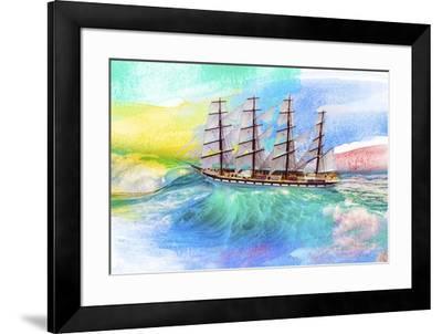 Sailing Away 4-Ata Alishahi-Framed Giclee Print