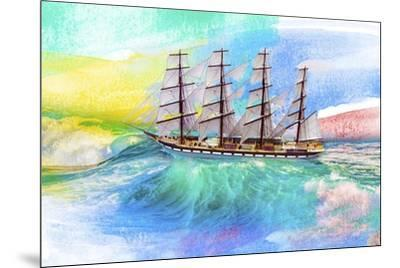 Sailing Away 4-Ata Alishahi-Mounted Giclee Print