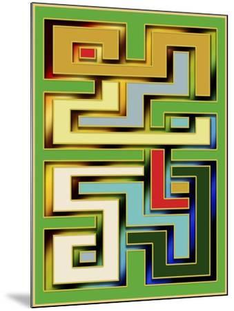 Geo 9-Art Deco Designs-Mounted Giclee Print