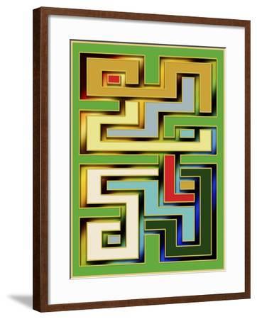Geo 9-Art Deco Designs-Framed Giclee Print