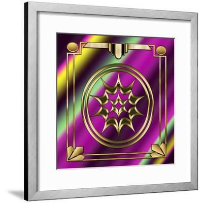 Deco 29 Frame 1-Art Deco Designs-Framed Giclee Print