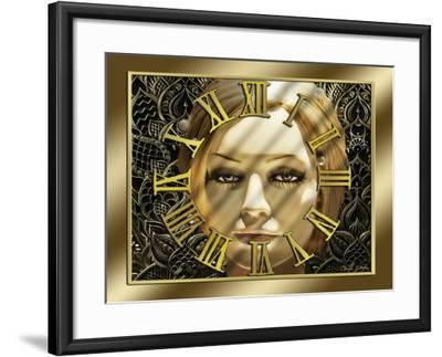 Luna Art Deco Clock-Art Deco Designs-Framed Giclee Print