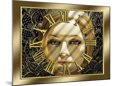 Luna Art Deco Clock-Art Deco Designs-Mounted Giclee Print