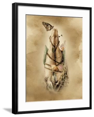 Prayer Hands-Art and a Little Magic-Framed Giclee Print