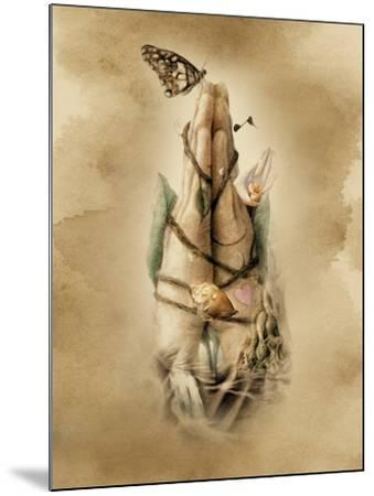 Prayer Hands-Art and a Little Magic-Mounted Giclee Print
