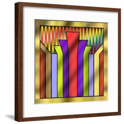 Art Deco 16A-Art Deco Designs-Framed Giclee Print