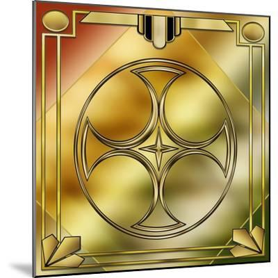 Deco Brass 3 Frame 1-Art Deco Designs-Mounted Giclee Print