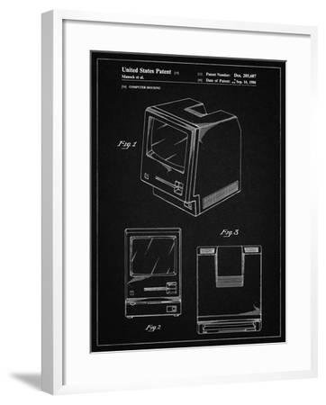 PP176- Vintage Black First Macintosh Computer Poster-Cole Borders-Framed Giclee Print