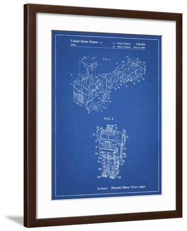 PP179- Blueprint Optimus Prime Transformer Poster-Cole Borders-Framed Giclee Print