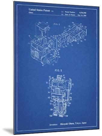 PP179- Blueprint Optimus Prime Transformer Poster-Cole Borders-Mounted Giclee Print