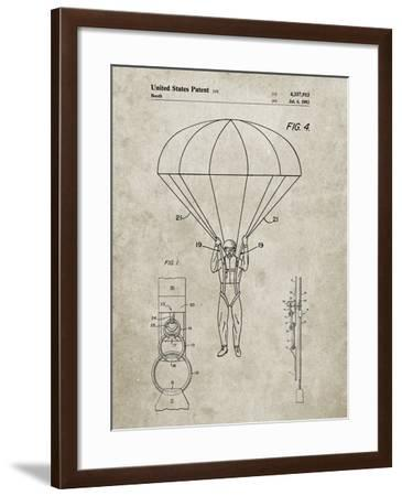 PP187- Sandstone Parachute 1982 Patent Poster-Cole Borders-Framed Giclee Print