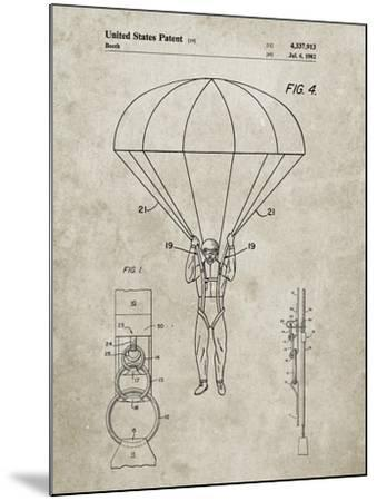 PP187- Sandstone Parachute 1982 Patent Poster-Cole Borders-Mounted Giclee Print