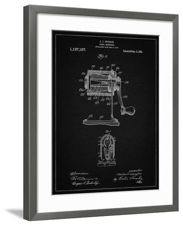PP162- Vintage Black Pencil Sharpener Patent Poster-Cole Borders-Framed Giclee Print