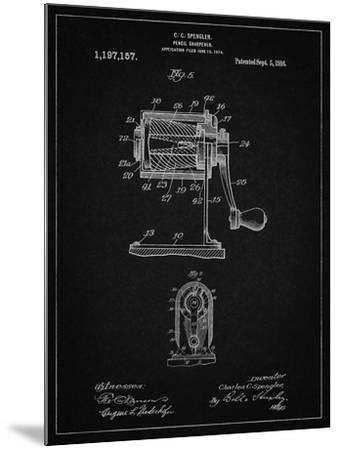 PP162- Vintage Black Pencil Sharpener Patent Poster-Cole Borders-Mounted Giclee Print