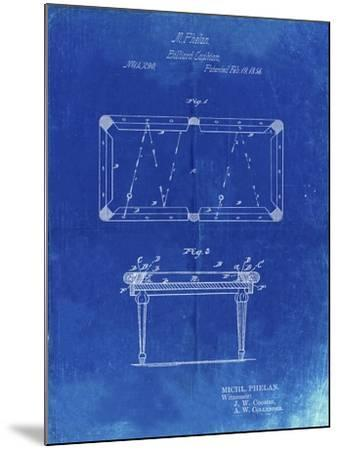 PP149- Faded Blueprint Pool Table Patent Poster-Cole Borders-Mounted Giclee Print