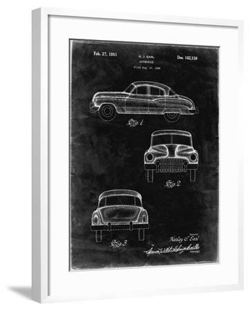 PP134- Black Grunge Buick Super 1949 Car Patent Poster-Cole Borders-Framed Giclee Print