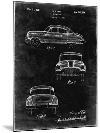 PP134- Black Grunge Buick Super 1949 Car Patent Poster-Cole Borders-Mounted Giclee Print