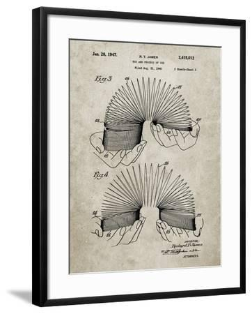 PP125- Sandstone Slinky Toy Patent Poster-Cole Borders-Framed Giclee Print