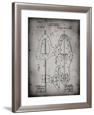 PP158- Faded Grey 1898 Hockey Skate Patent Poster-Cole Borders-Framed Giclee Print