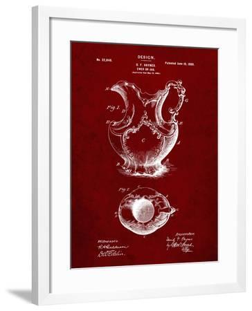 PP151- Burgundy Antique Haynes Washing Pitcher-Cole Borders-Framed Giclee Print