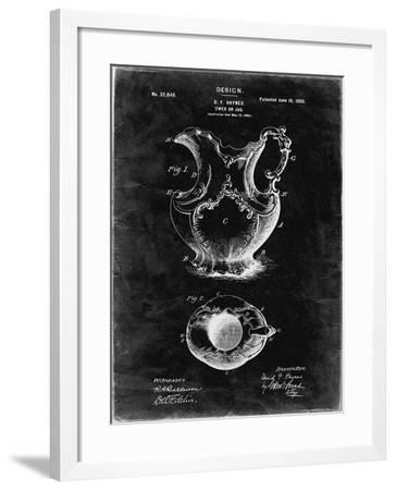 PP151- Black Grunge Antique Haynes Washing Pitcher-Cole Borders-Framed Giclee Print