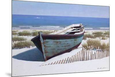 Blue Boat on Beach-Zhen-Huan Lu-Mounted Giclee Print