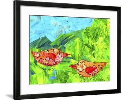 Mountain Birds-Wolf Heart Illustrations-Framed Giclee Print