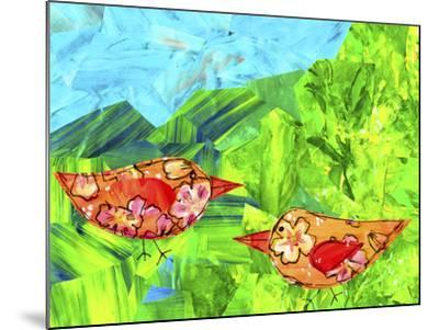 Mountain Birds-Wolf Heart Illustrations-Mounted Giclee Print
