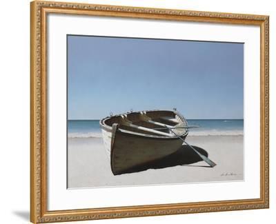 Lonely Boat on Beach-Zhen-Huan Lu-Framed Giclee Print