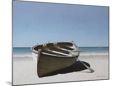 Lonely Boat on Beach-Zhen-Huan Lu-Mounted Giclee Print