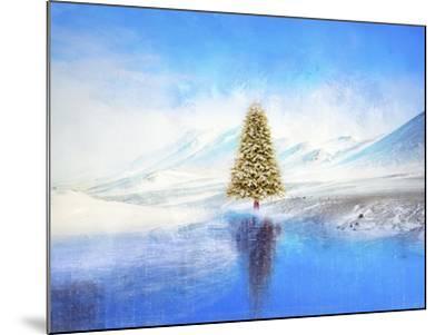 Winter And Christmas Tree-Ata Alishahi-Mounted Giclee Print