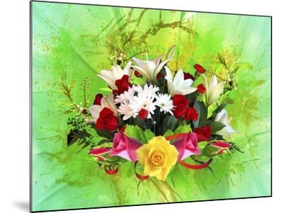 Flower Design Oc6-Ata Alishahi-Mounted Giclee Print