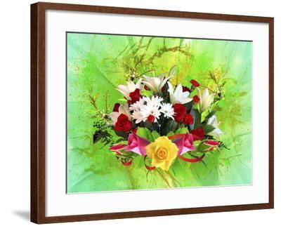 Flower Design Oc6-Ata Alishahi-Framed Giclee Print